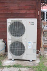 Pompa di calore (unità esterna Mitsubishi)